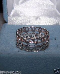 Ross simons sterling silver 925 diamond cut out wide band for Ross simons jewelry store