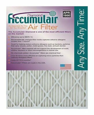 Accumulair Diamond 2-Inch MERV 13 Air Filter/Furnace Filters