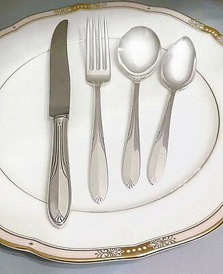 National Overture Complete 48 Pc Sterling Silver Flatware Set for 12 People