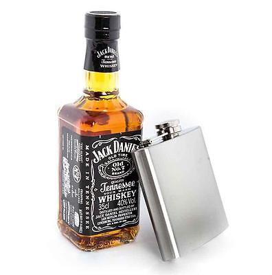 6oz Stainless Steel Hip Flask Pocket Drink Whisky Vodka Alcohol Liquor Holder