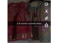 3-6 months dress and baby grows