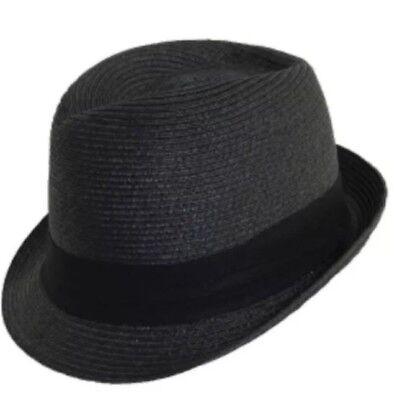 Scala Paper Braid - New SCALA Pronto Women's Hat Paper Braid Fedora in Black, 1 1/4