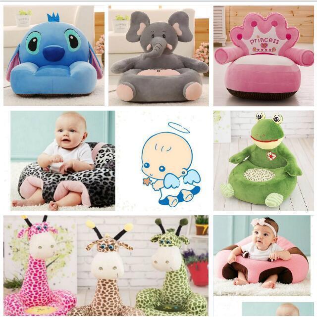 Giraffe Children Sofa Animal Cushion Stuffed Doll Plush Toys Baby Seat Beanbag
