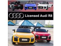 Audi R8 (Larger Size) In Black, Red, White, Blue, Parental Remote & Self Drive
