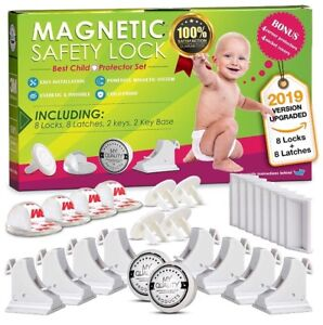 NEW Invisible Magnetic No Drill Safety Childproof Lock
