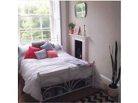Elegant Laura Ashley small double bed frame and mattress.