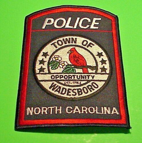"WADESBORO  NORTH CAROLINA  NC  POLICE PATCH  5 1/8""  FREE SHIPPING!!!"