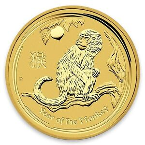 Pièce or/bullion gold monkey 2016 1/4 oz 12.833