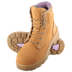 Womens Steel Blue Argyle Ladies Lace-up Safety Boot Wheat Nubuck South Brisbane Brisbane South West Preview