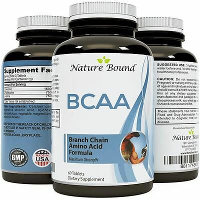 Nature Bound Branch Chain Amino Acids BCAA Pills - Muscle Build Supplement