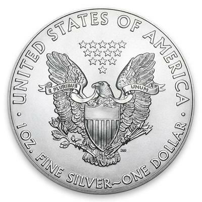 1 Oz .999 Fine American Silver Eagle - Brilliant Uncirculated - Random Date