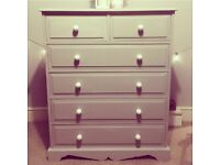 Solid pine chest of drawers, fab quality