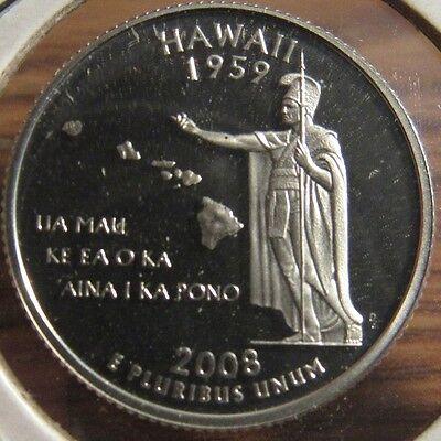 2008-S Hawaii State Proof 90% Silver Quarter - HI