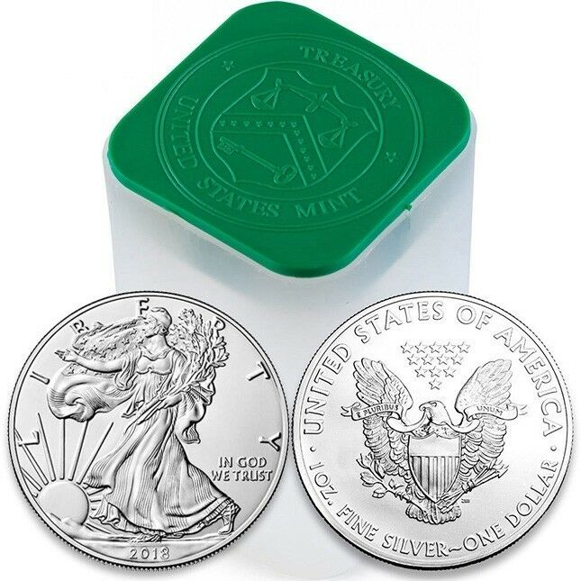 Купить 2018 1 OUNCE AMERICAN SILVER EAGLE GEM B/U $1 SILVER DOLLAR~INVEST TODAY~.999