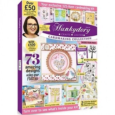 HUNKYDORY CARDMAKING COLLECTION MAGAZINE ISSUE 4 FREE DIES STAMPS TOPPERS PAPERS