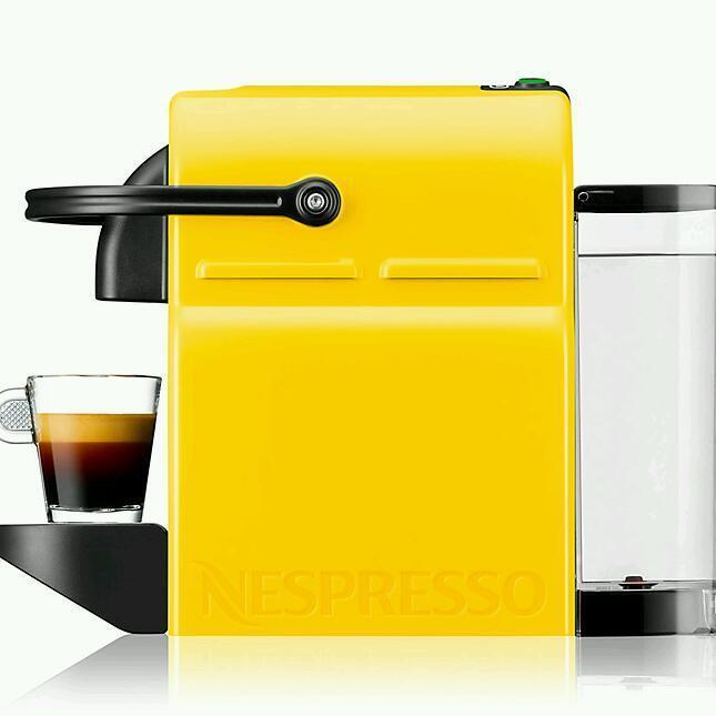 nespresso inissia coffee machine yellow brand new