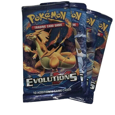 New x2 Pokemon XY Evolutions Booster GENUINE & Sealed Charizard? - great gift