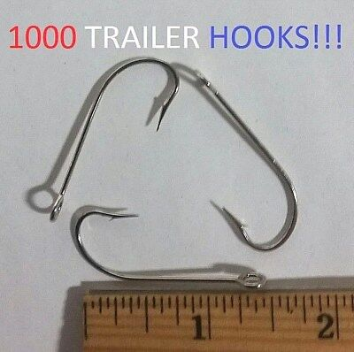 Eagle Claw 500R Red Pro V Lil Nasty Sickle Style Jig Hooks for Molds 100