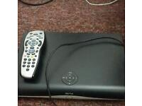 Sky box with card and remote
