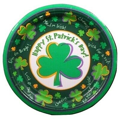 St Patricks Day Shamrock Dessert Plates (12) - Party Supplies