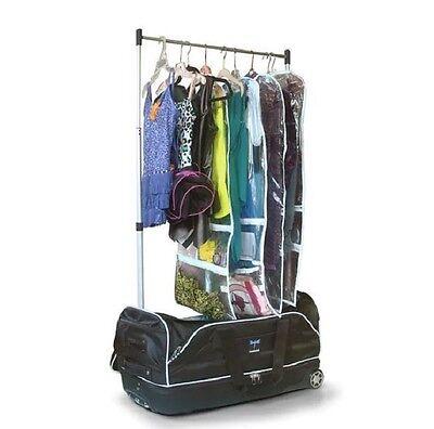"""Dance Duffel Bag Garment Rack Rolling Wheels 28"""" Theater Lightweight Mini Closet"""