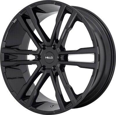 22 Inch Black Wheels Rims Cadillac Escalade GMC Yukon 1500 Denali 6 Lug HE918