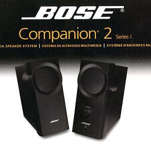 Système d'Enceintes Amplifiées Multimédia BOSE Companion 2.
