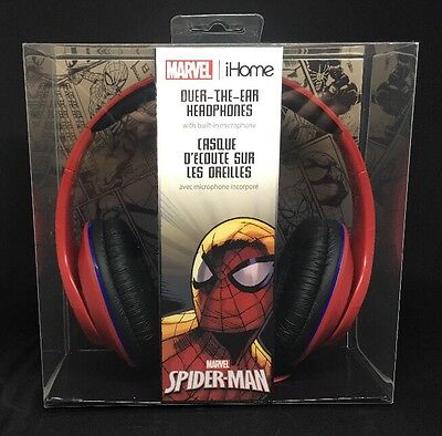 Marvel Spider Man Over The Ear Headphones With Built In Microphone