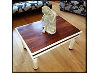 Unique Shabby Chic Solid Dark Wood Coffee Table - Free Delivery