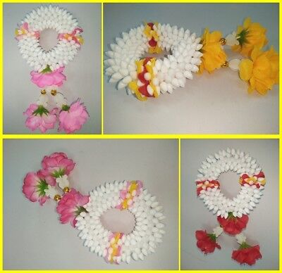Artificial Thai Flower Jasmine Plastic Mini Round Garland Hang Phuang Malai Gift