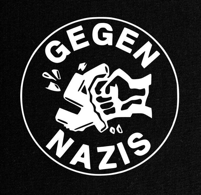 Gegen Nazis - Patch gedruckt Antifaschistische Aktion