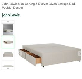 John Lewis Double Bed with 4 Drawers and Mattress (with Wrapped)
