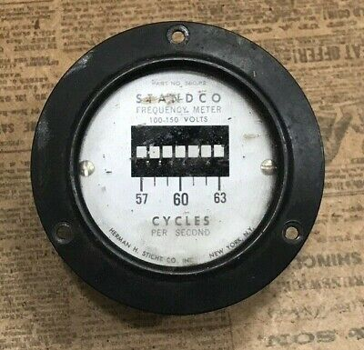 Standco Frequency Meter Hh Sticht 100-150volts - Part No. 360 P2