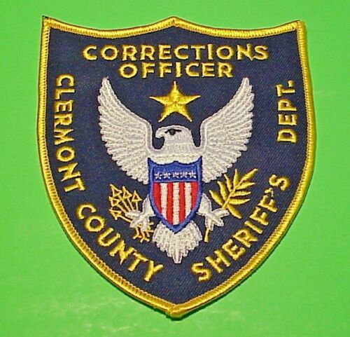 CLERMONT COUNTY  OHIO  CORRECTIONS OFFICER SHERIFF / POLICE PATCH  FREE SHIPPING