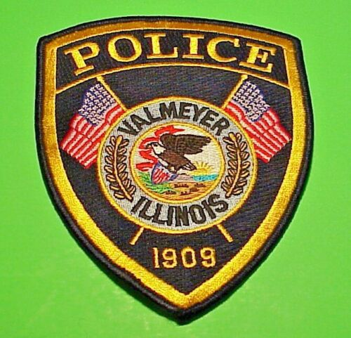 "VALMEYER  ILLINOIS  IL  5 1/2""  POLICE PATCH   FREE SHIPPING!!!"