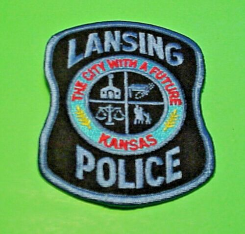 """LANSING KANSAS KS  """"THE CITY WITH A FUTURE""""  4""""  POLICE PATCH  FREE SHIPPING!!!"""