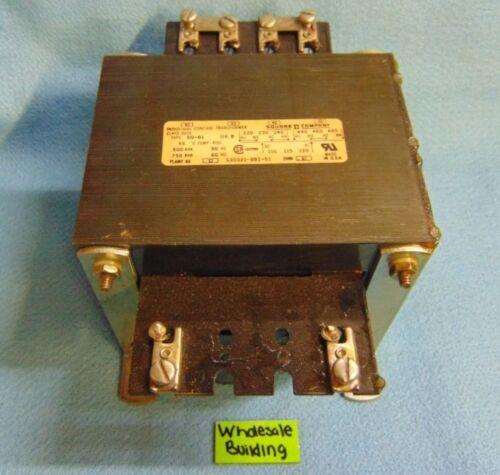 SQUARE D CONTROL TRANSFORMER EO-61, S3 0021-881-51, SERIES B