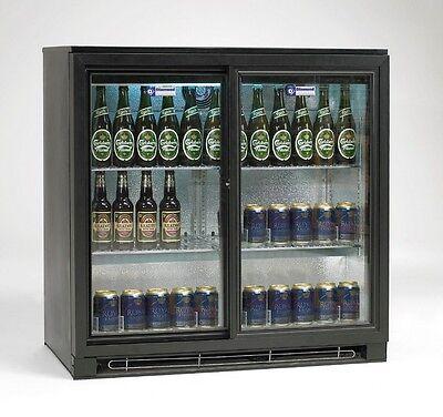 Getränkekühlschrank Flaschenkühlschrank mit Schiebetüren 191L Gastlando - Kühlschrank Mit 2 Schiebetüren