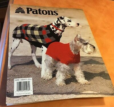 Dog Sweaters Knitting 6 Patterns Blanket Petite to X-Large Aran Check NEW