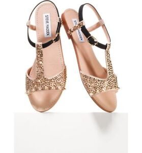 Steve Madden Gold Studded Sandals size 6.5