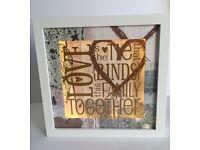 Love light up boxed frame