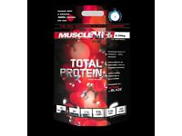 2.25KG Total Protein - Muscle NH2 - Brand New 2019 Date - Weights Gym Supplements