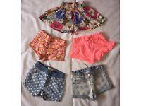 6-9 months. 5 pairs of ZARA shorts.