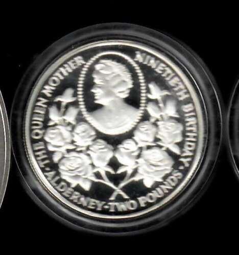 Alderney 2 Pounds PIEFORT sterling silver coin - MINTAGE 500 pcs!