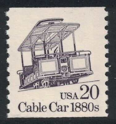 Scott 2263- 20c Cable Car 1880s, Transportation Coil Series- MNH- unused mint
