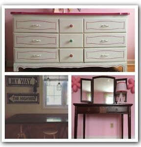 Custom furniture painting, refinishing and signs available