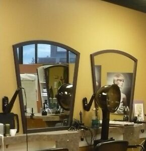 Pedicure spa chair, station mirror, product shelves for sale