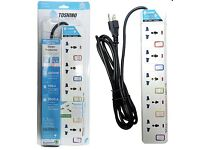 5 Sockets 5 Switches Toshino Universal Surge Protector - Very New!!