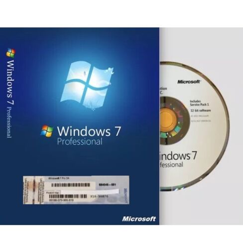 Windows 7 Professional 32 Bit By Microsoft Full Version S...