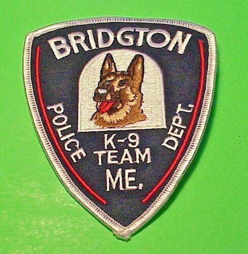 "BRIDGTON  MAINE  ME  K-9 TEAM  4 3/4""  POLICE PATCH  FREE SHIPPING!!!"